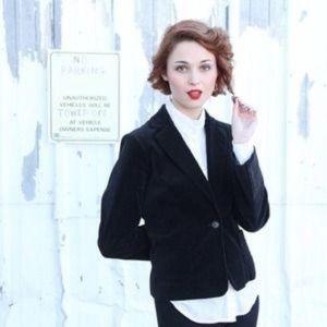BCBGMAXAZRIA Velvet Blazer Tuxedo Pocket